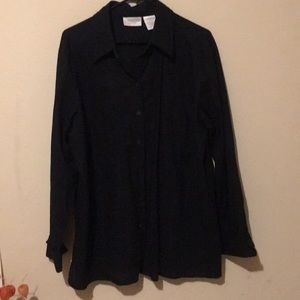Worthington 1X linen shirt nwot gorgeous